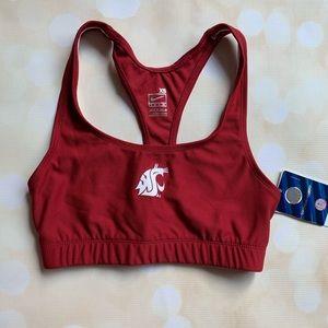 WSU cougar logo sports bra